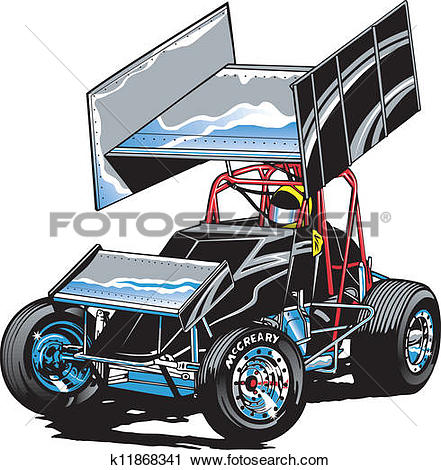 Clipart - Race Car Midget. Fotosearch - Search Clip Art, Illustration Murals, Drawings