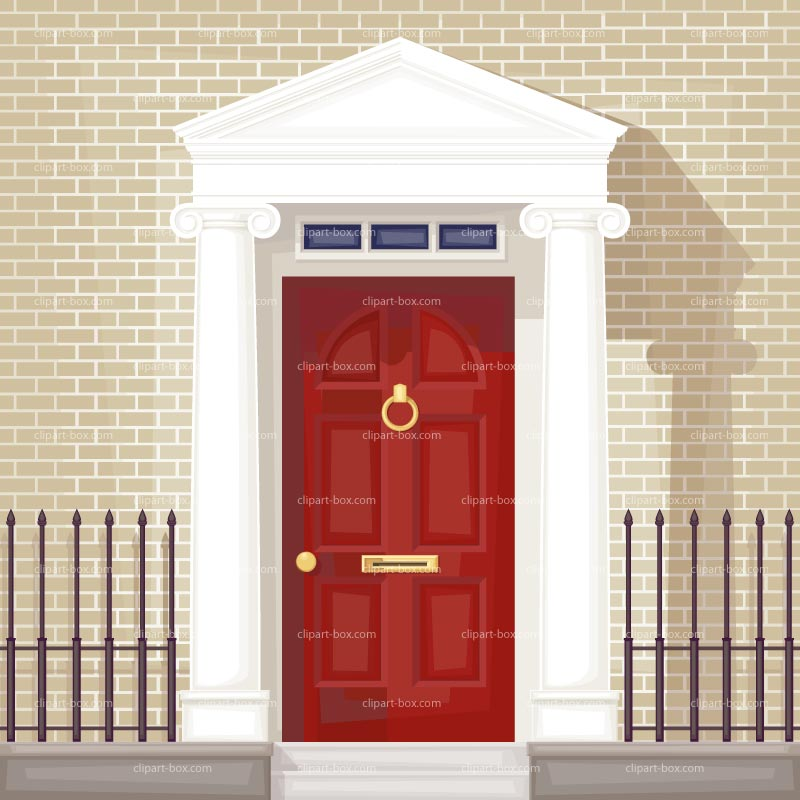 Clipart Red Front Door Royalty Free Vector Design