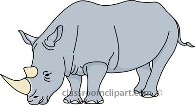 Clipart rhino - ClipartFest
