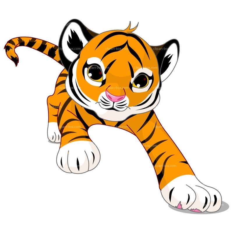 Clipart Running Tiger Royalty Free Vector Design