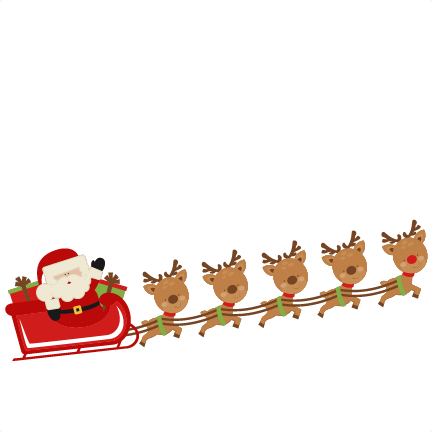 Clipart Santa And Reindeer .-Clipart Santa And Reindeer .-5