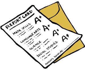 Clipart School Report Card .