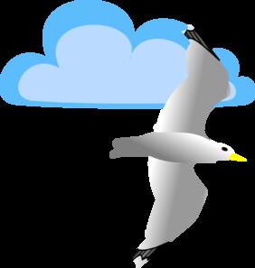 Clipart Seagulls Flying Clipart Best