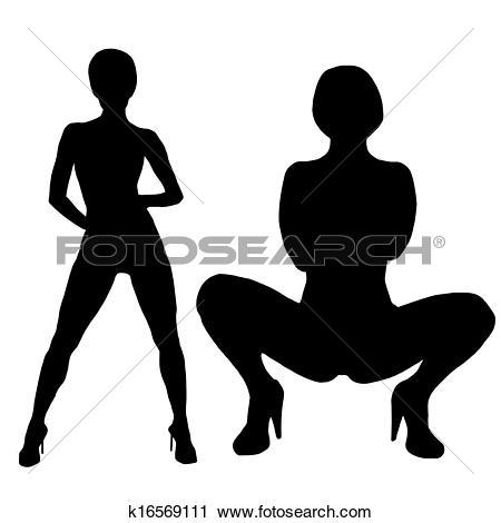 Clipart - set , beautiful stripper posing. Fotosearch - Search Clip Art, Illustration Murals