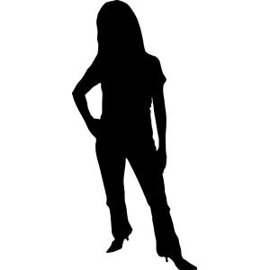 Clipart silhouette woman - ClipartFest ...