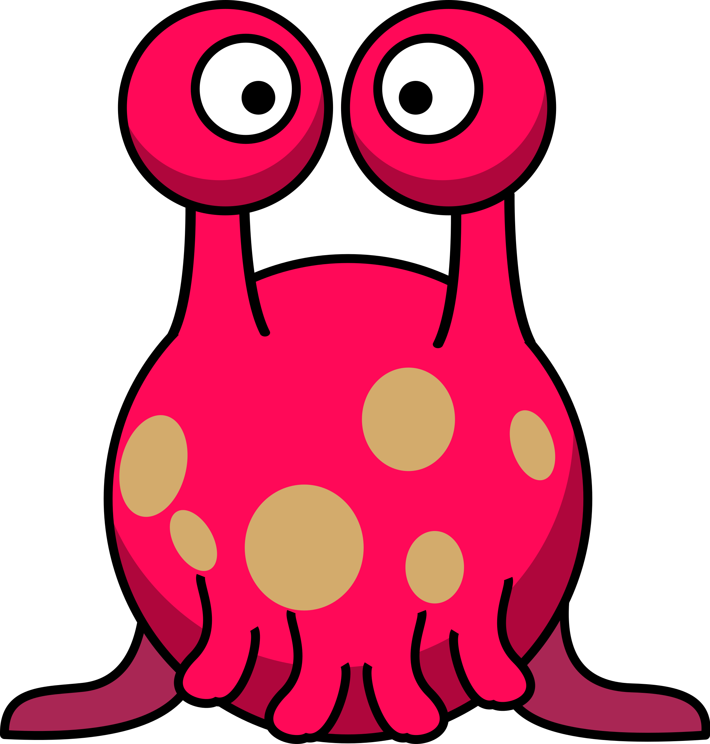 Clipart silly alien in the style of lemmling