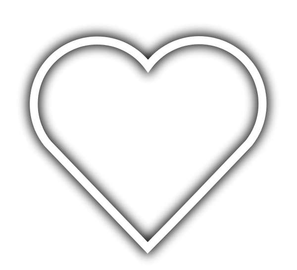 clipart, Simple Heart . - White Heart Clipart