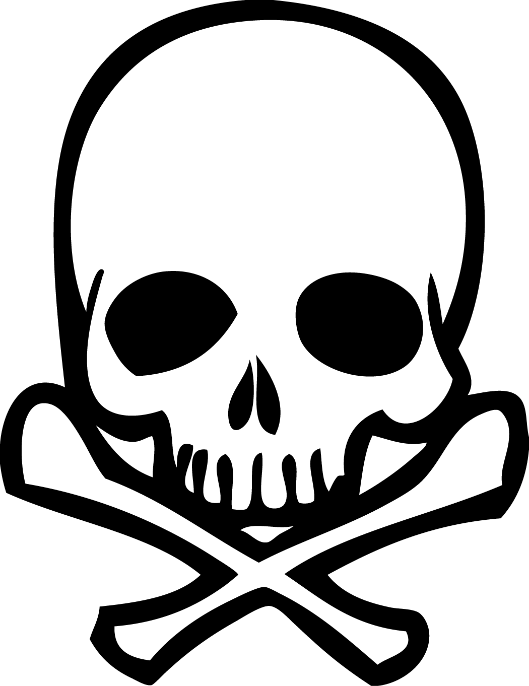 Clipart Skull And Bones - .-Clipart skull and bones - .-1