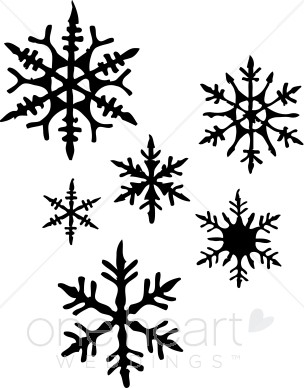 Clipart Snowflakes Snowflake Wedding Clipart