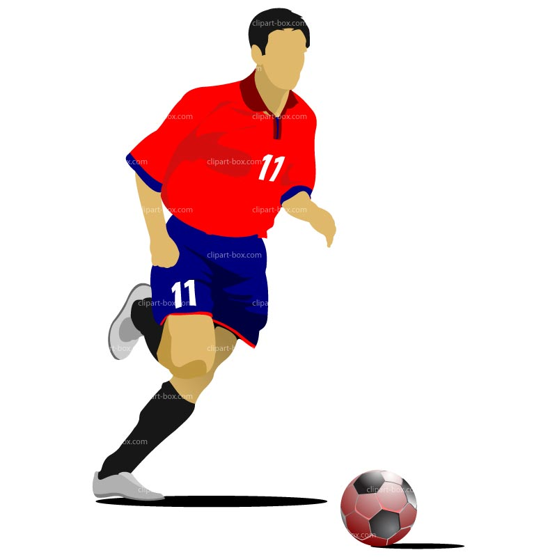 Clipart Soccer Player Royalty Free Vector Design