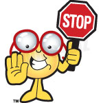 Clipart Stop. Eye Glass Holding A Stop Sign