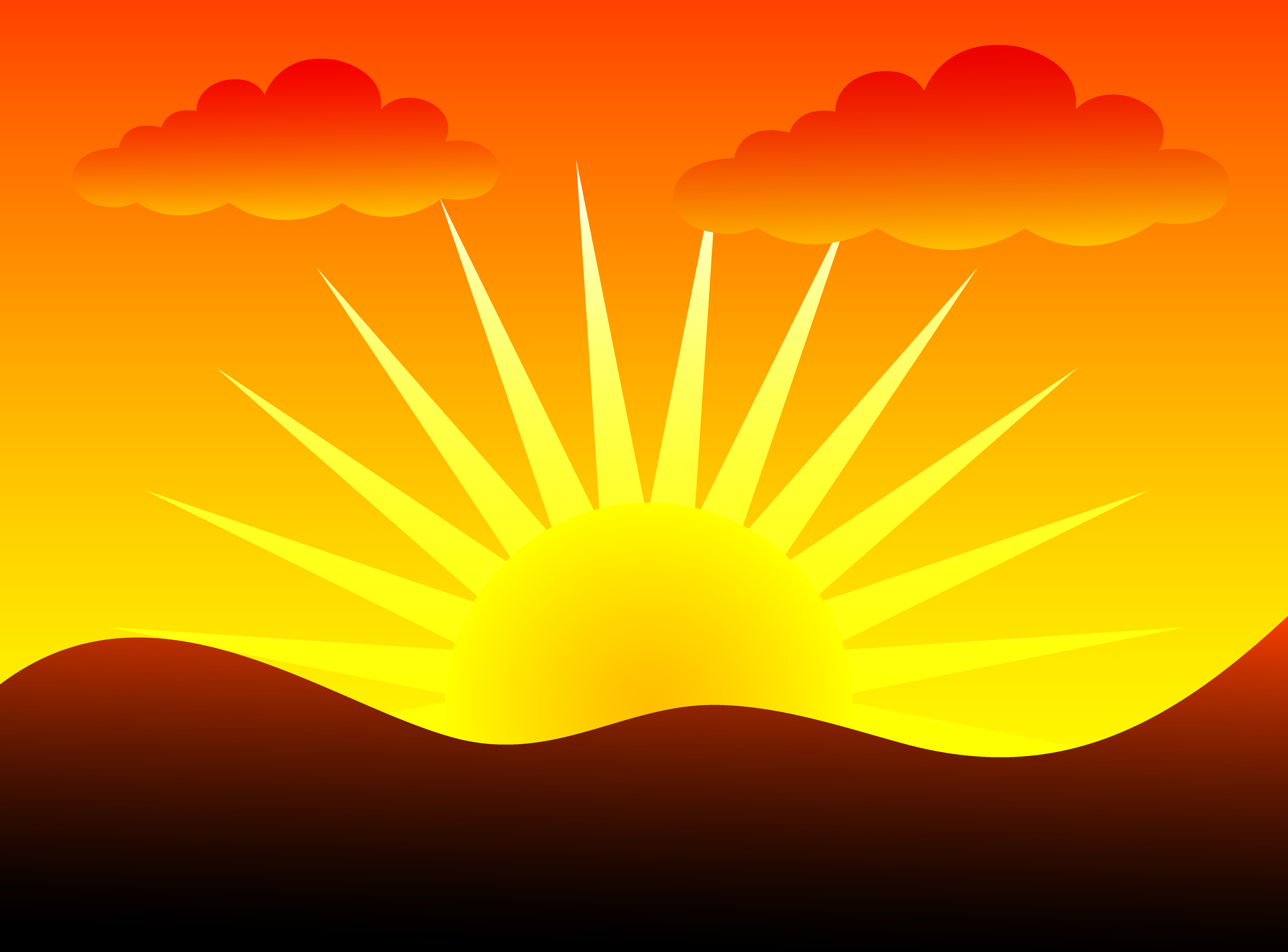 Clipart Sunset. Sunset cliparts