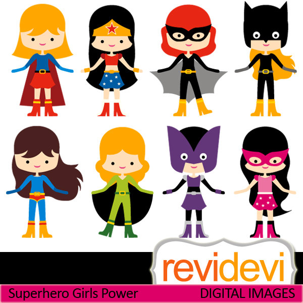 Clipart Superhero Girls Power - Superhero Clipart Free