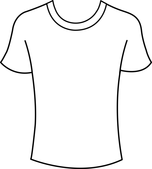... Clipart t shirt outline . - Clip Art T Shirt