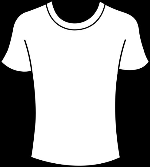 ... Clipart t shirt outline . - Tshirt Clipart