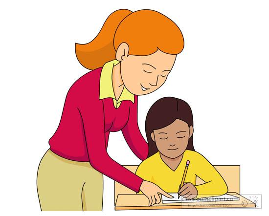 clipart teacher and student .