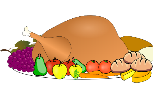 clipart thanksgiving - Thanksgiving Feast Clipart