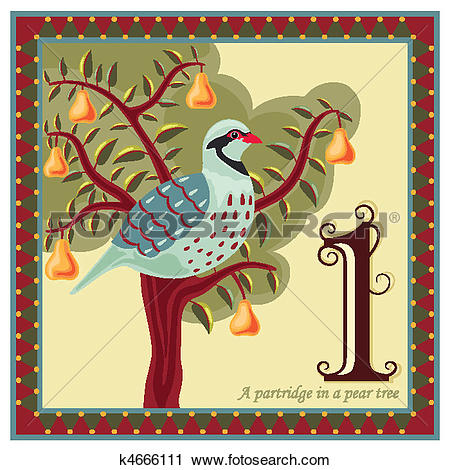 Clipart - The 12 Days Of Christmas. Foto-Clipart - The 12 Days of Christmas. Fotosearch - Search Clip Art, Illustration Murals-12