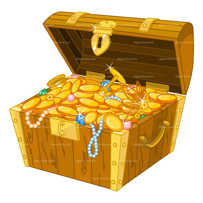 Clipart Treasure Chest Royalty Free Vector Design