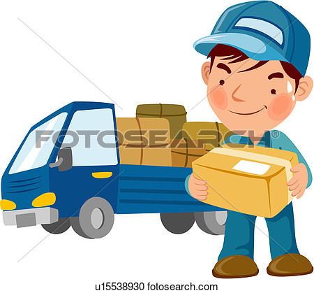 Clipart - truck, package .