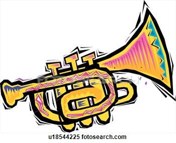 Clipart trumpet kid