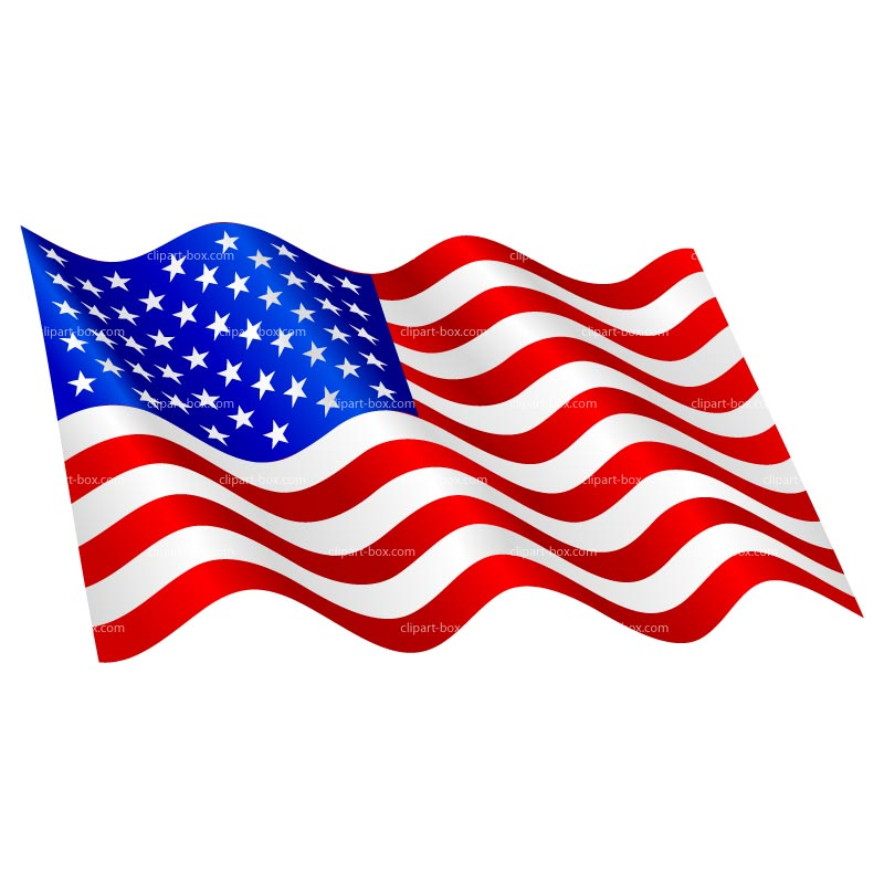 Clipart Us Flag Waving Royalty Free Vector Design
