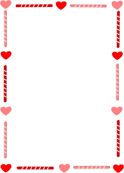 Clipart Valentines Day Border