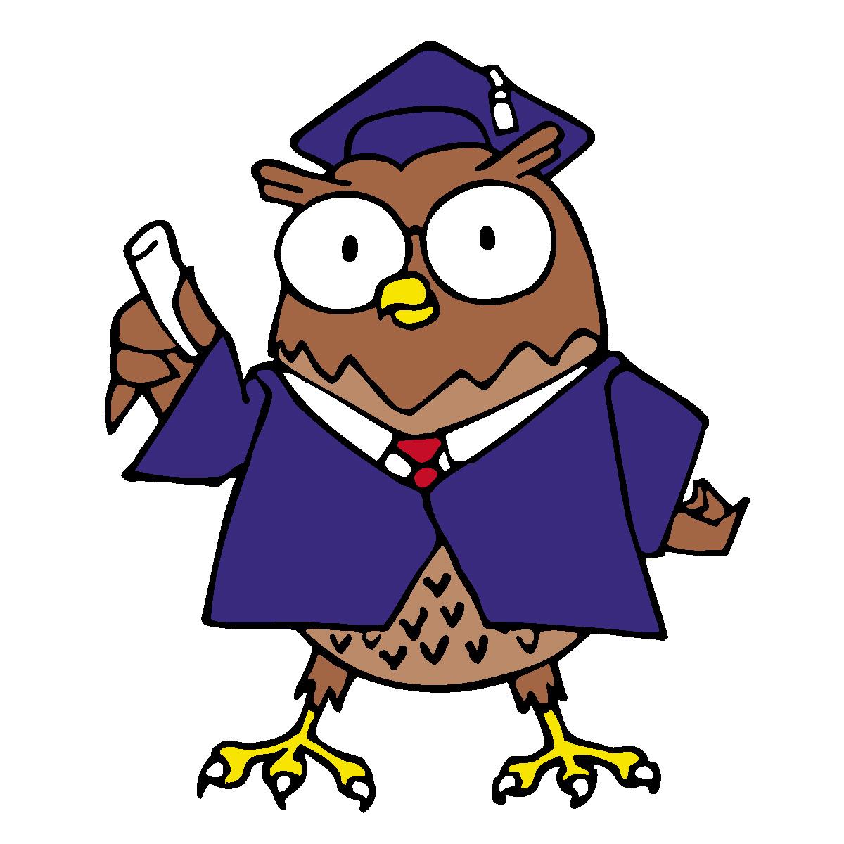 Clipart Vector Professor Owl . .-Clipart Vector Professor Owl . .-18