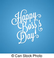 ... Clipart Vectorby pushkarevskyy3/64; boss day vintage lettering background 10 eps