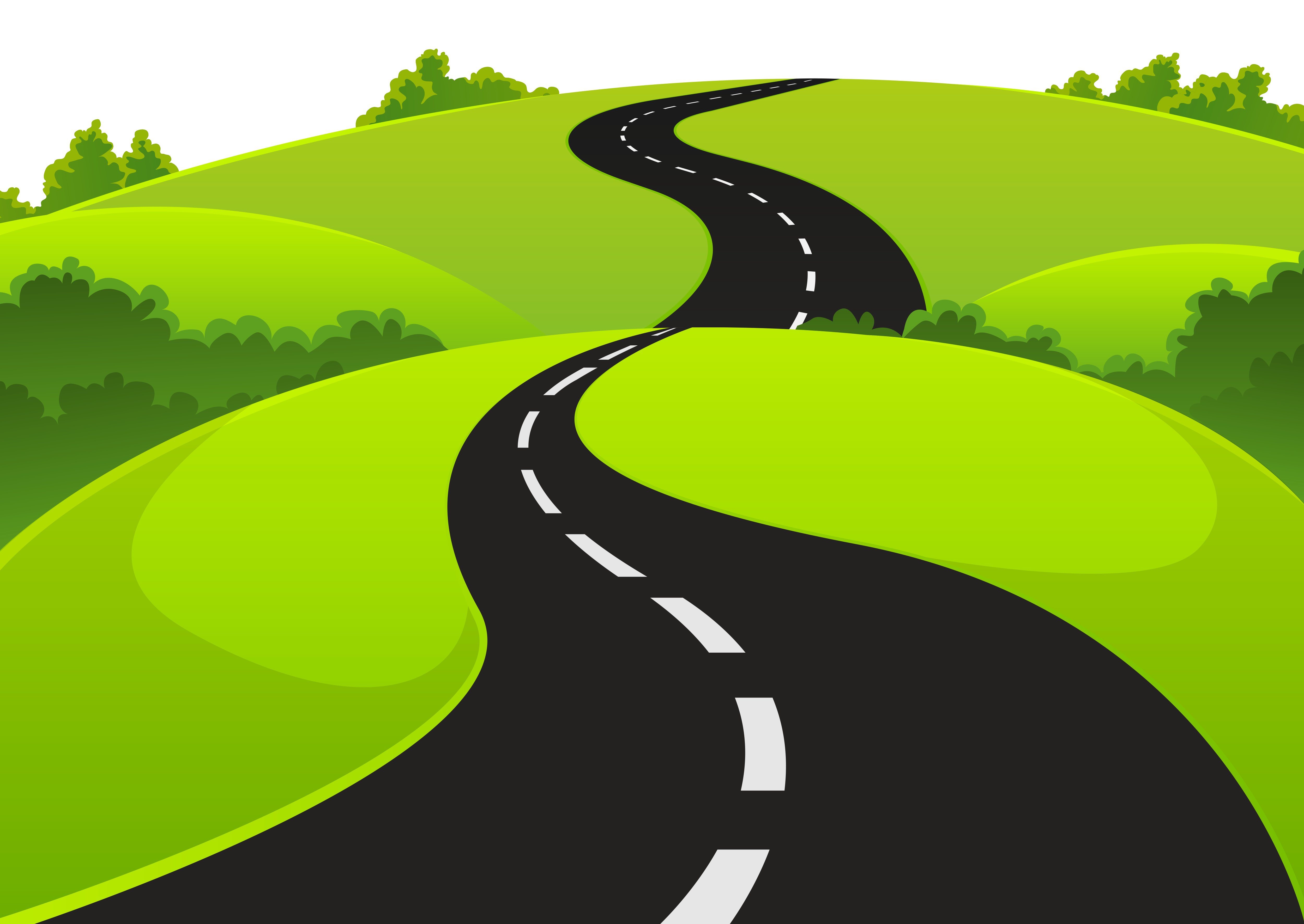 Clipart Winding Road .