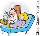 Clipart Woman Talking To Her  - Therapist Clipart