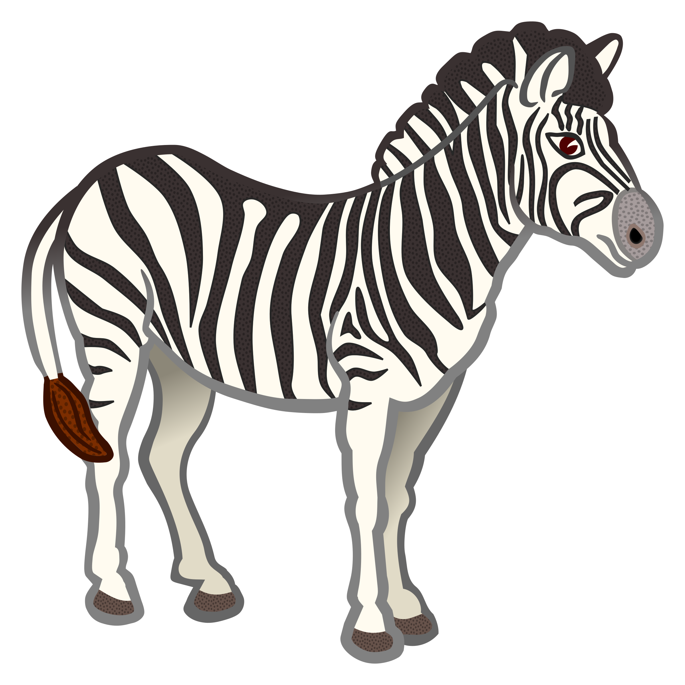 Clipart zebra loured