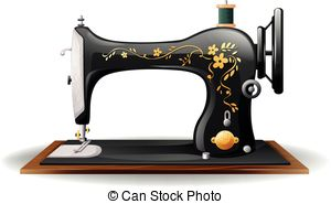 Clipartby amalga9/1,880; Sewing machine - Close up classic design of sewing machine