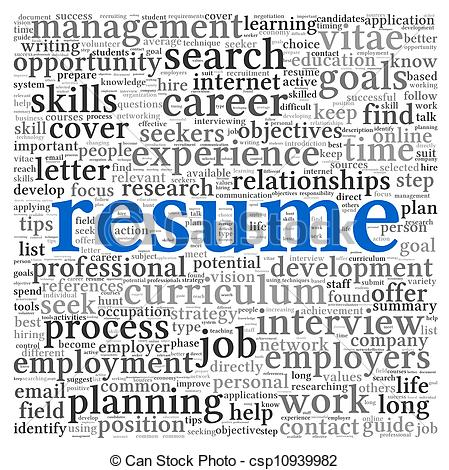 ... Clipartby Orson1/48; Resume concept words - Resume concept in word tag cloud on.