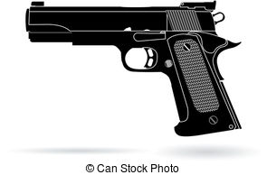 ... Clipartby pablonis2/528; gun isolated on white vector illustration