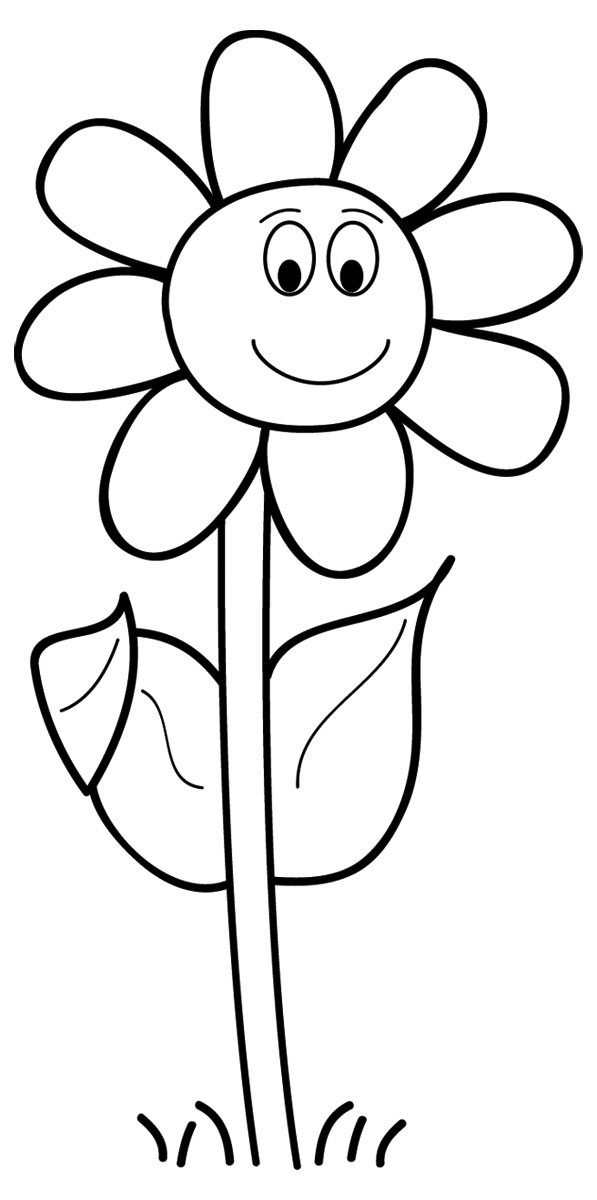 Cliparti1 Flower Clipart Blac - Flower Clip Art Black And White