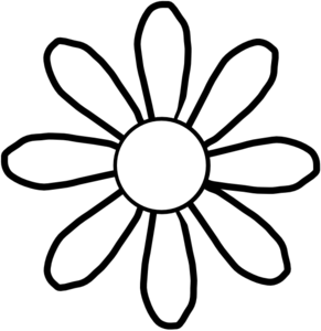Cliparti1 Flower Clipart Black And White. White Clip Art