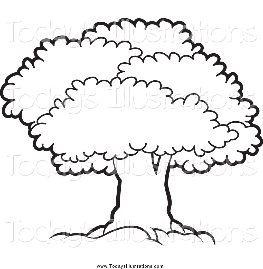 Cliparti1 Tree Clipart Black  - Tree Clip Art Black And White