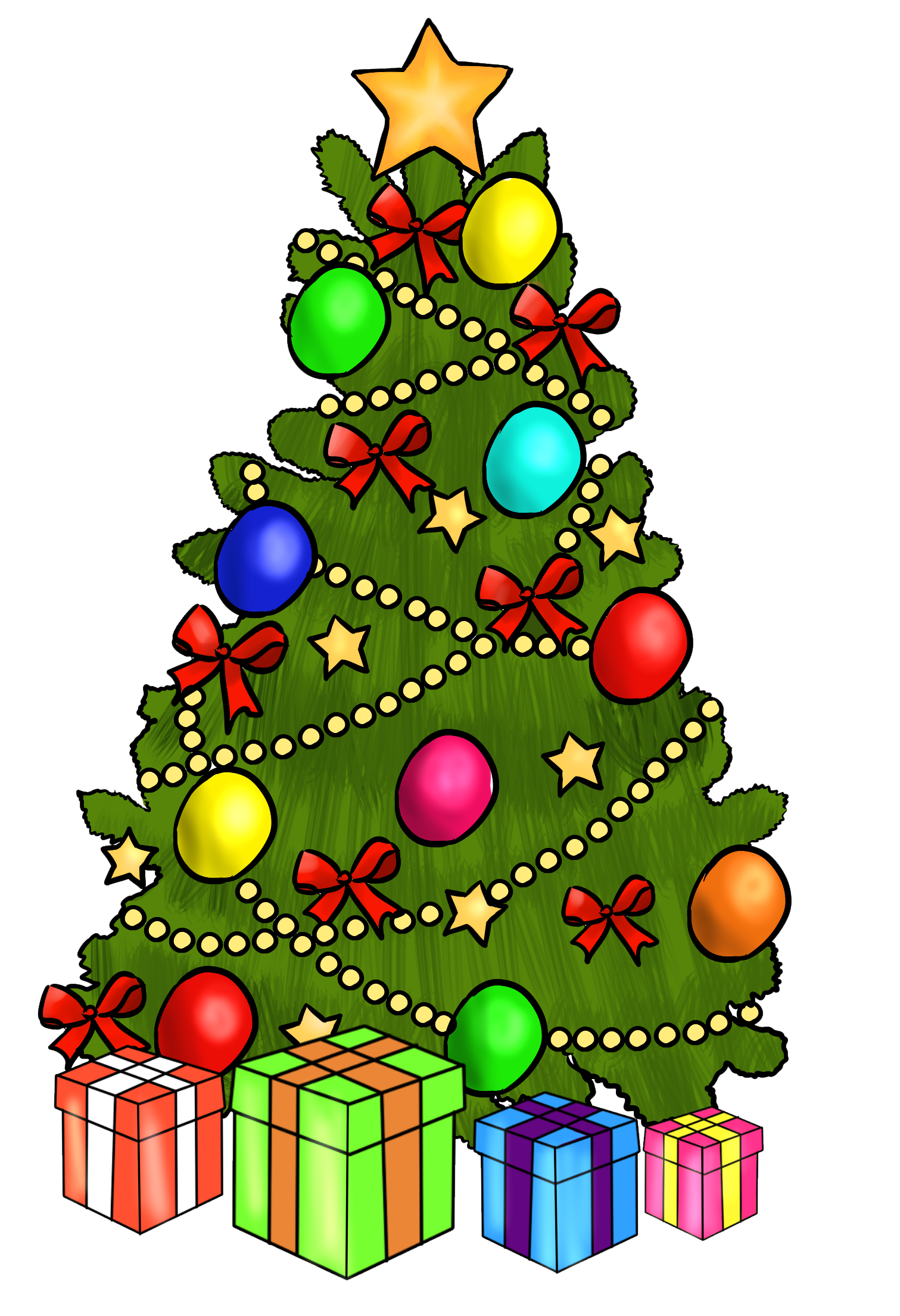 Clipartlord Com Exclusive This Beautiful Christmas Tree With Presents