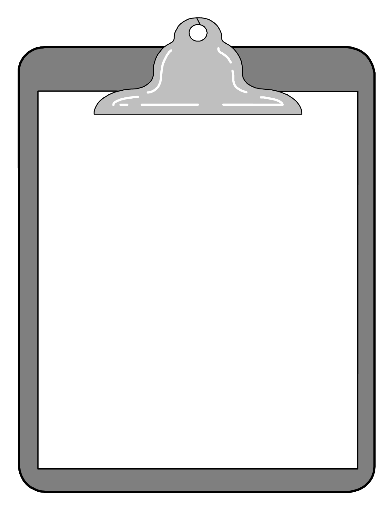 Clipboard boardmember black and white clipart kid