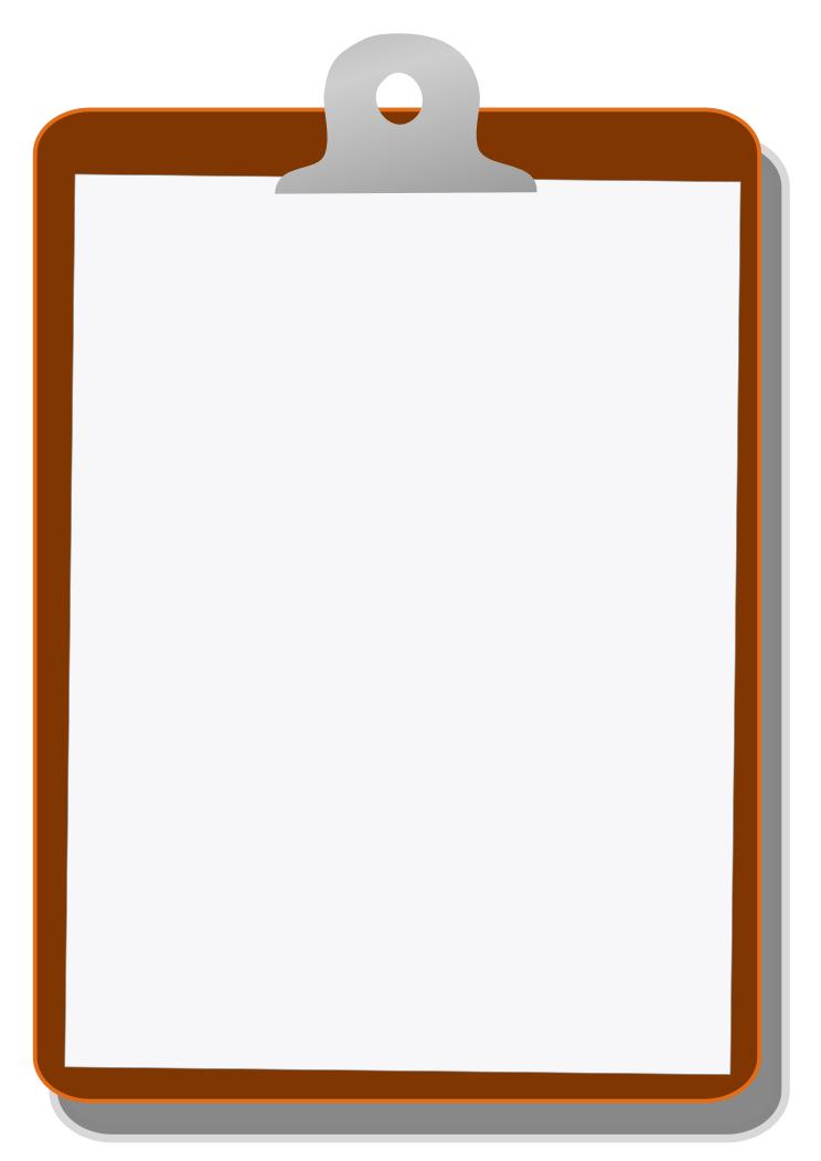 Clipboard Clipart Image 2-Clipboard clipart image 2-9