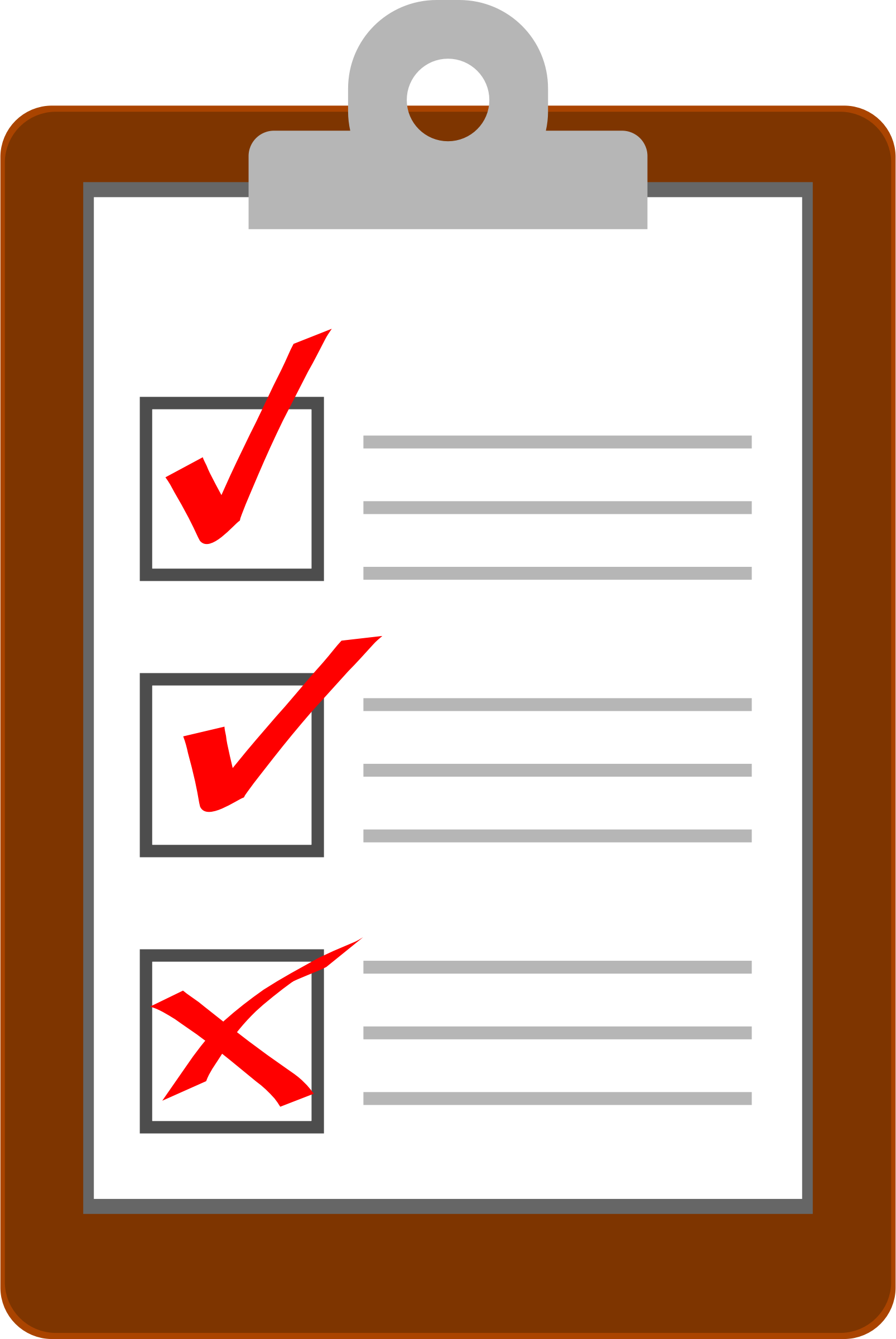 clipboard with attached pencil ... BIG IMAGE (PNG)