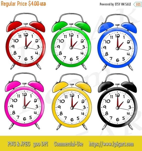 50% OFF Alarm Clock Clipart, Alarm Clock Clip art, Scrapbooking, Party  Invitations, Colorful Variety Digital Clock Illustrations Commercial from  I365Art on ClipartLook.com