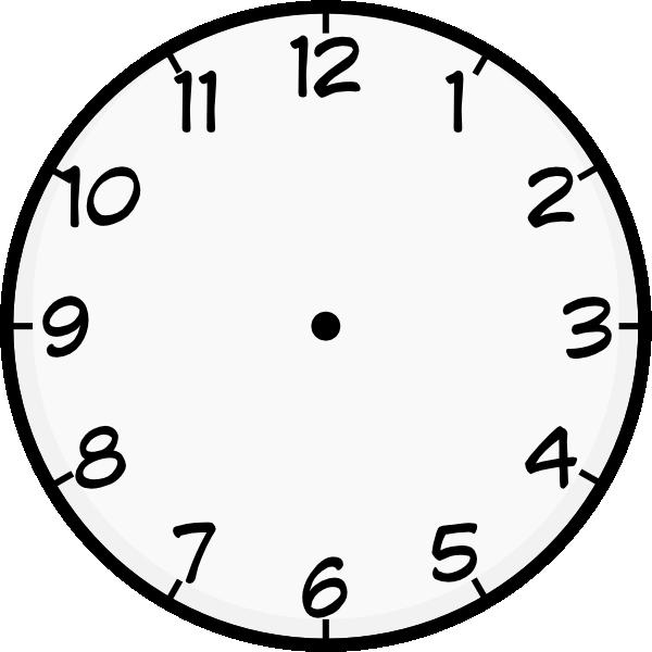 clock template printable | Purzen Clock Face clip art - vector clip art  online, royalty