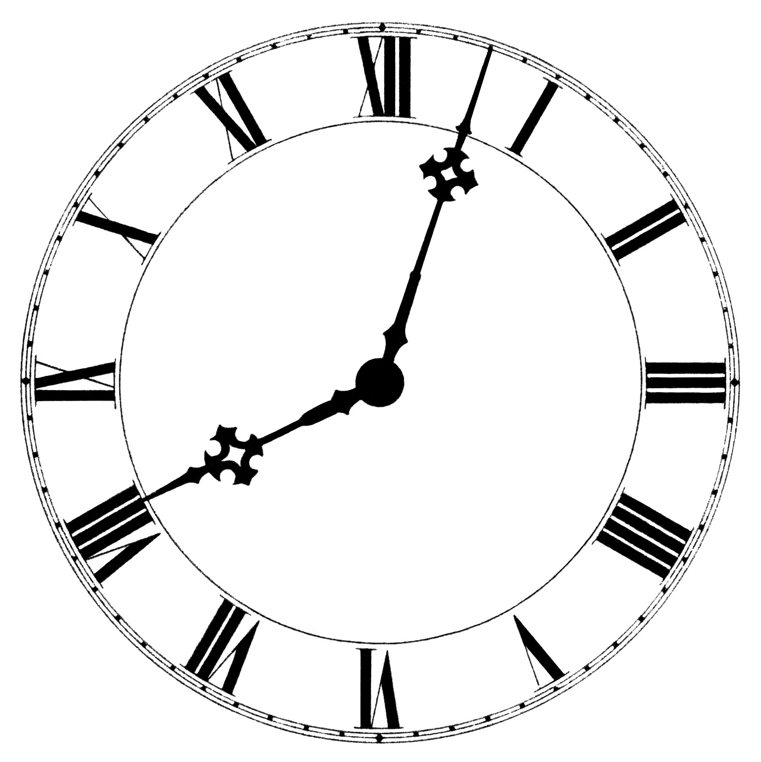 Clock Face Clip Art