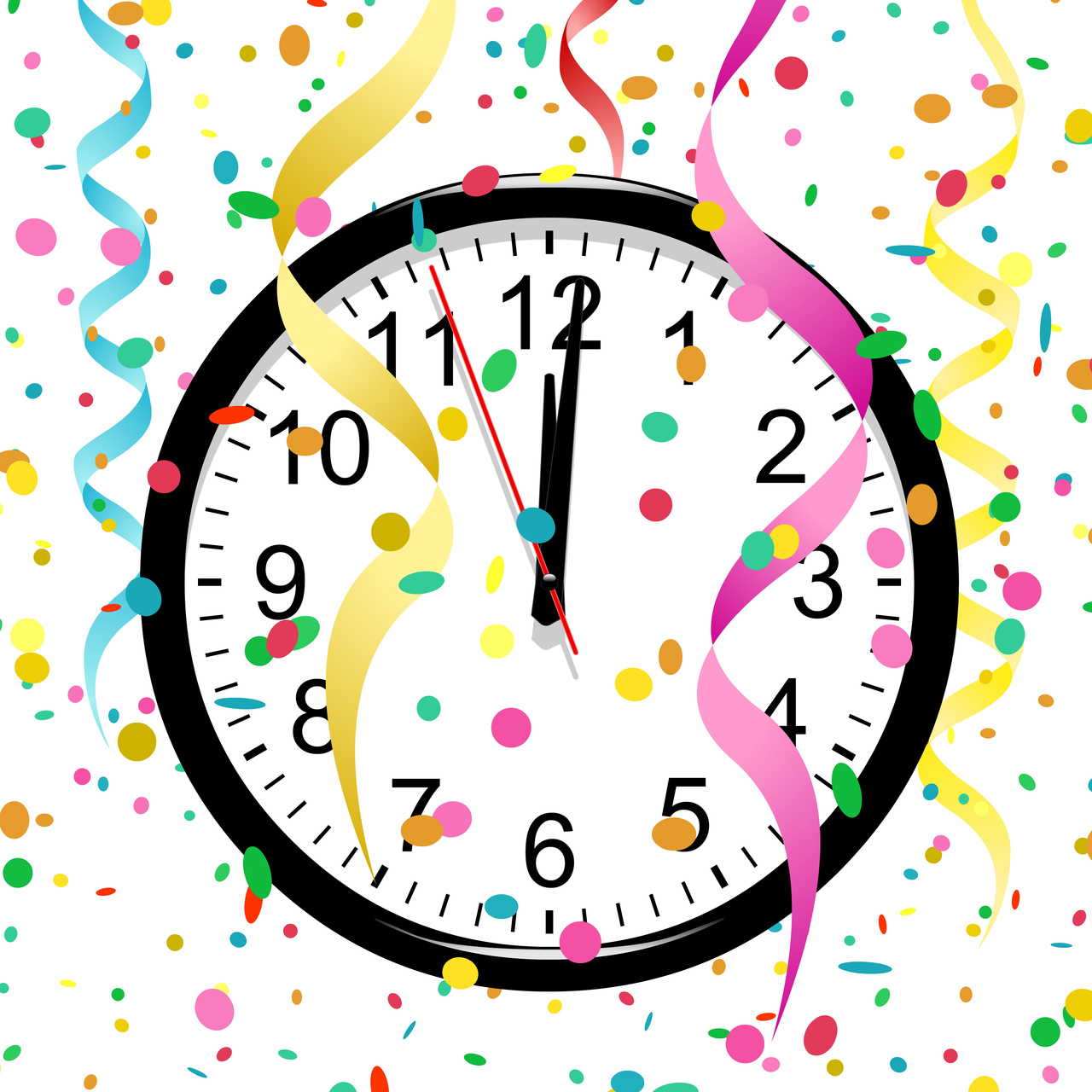 Clock Theme New Yearu0026#39;s Eve Party. Pix For New Years Eve Clipart Free