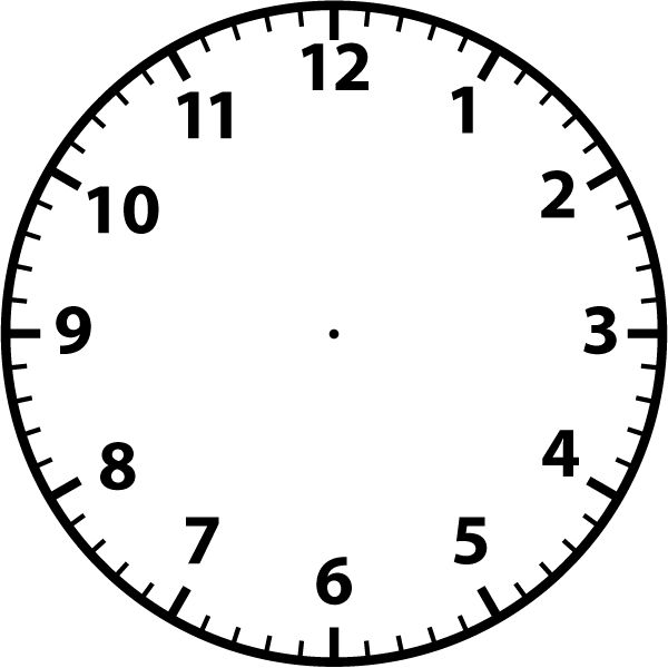 clocks - Blank Clock Clipart