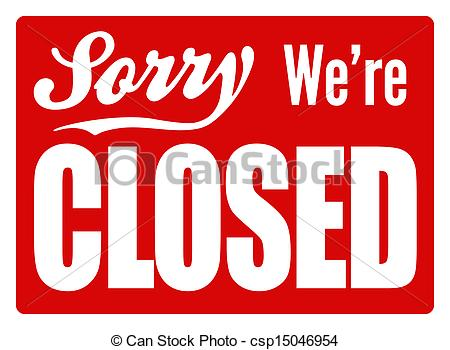 ... Closed Sign - XL - Typical closed sign for a shop, cafe or.