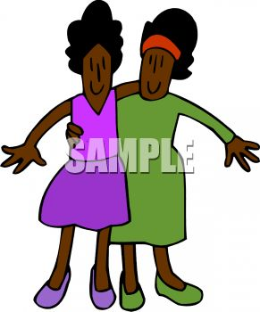 Closeness Clipart 0511 1007 0 - Sisters Clip Art