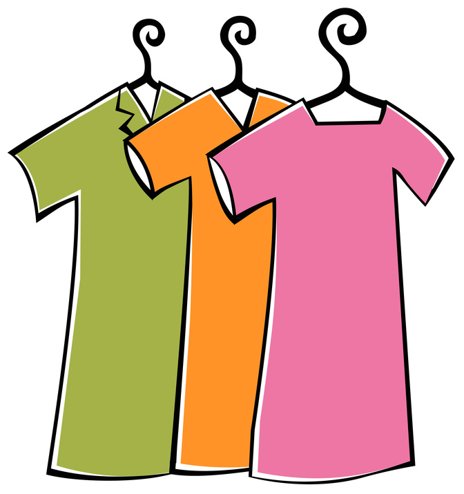 Clothing clip art girl clothes clipart kid